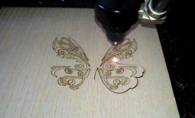 Highly detailed butterfly cutting
